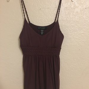 Cable and gauge brown tank top